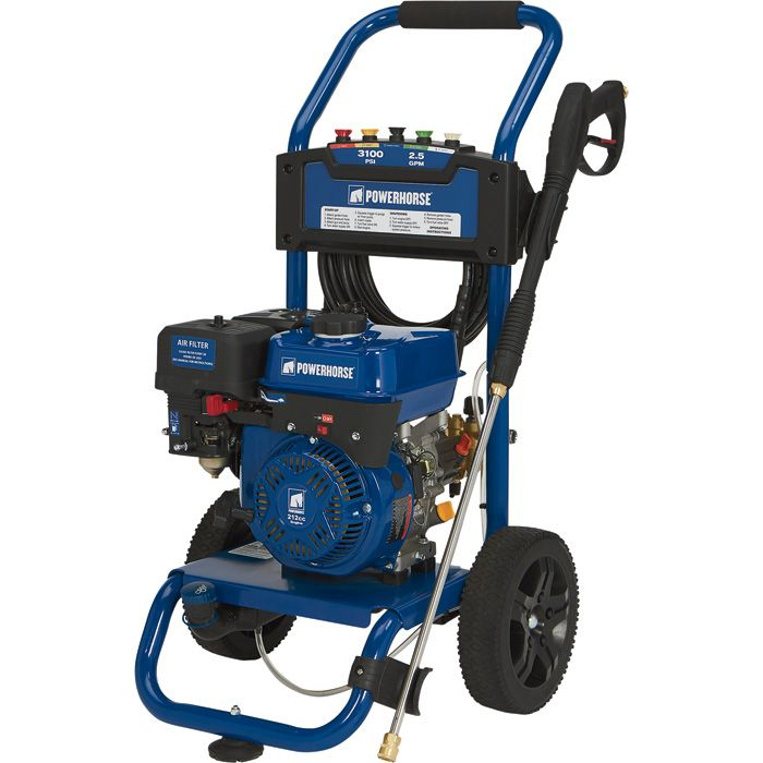 Powerhorse Gas Cold Water Pressure Washer 3000PSI 2.5 GPM