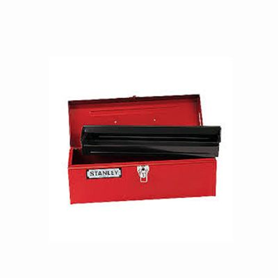 "Stanley Metal Red 19""L X 7""W X 7""H Tool Box"