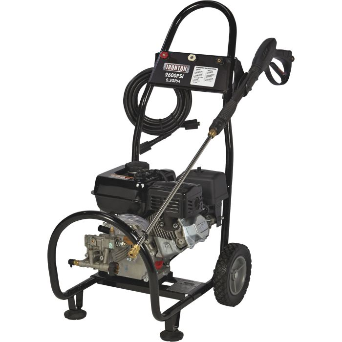 IRONTON GAS PRESSURE WASHER 2600PSI, 2.3GPM