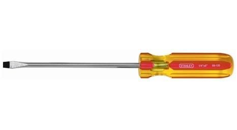 "Stanley 1/4"" X 4"" Flat Head Magnetic Tip Screwdriver"