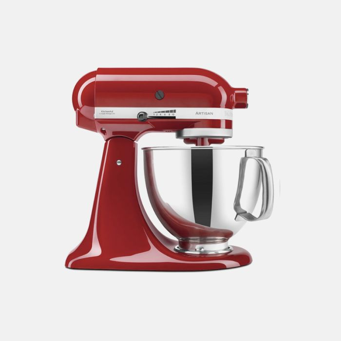 MIXER, KITCHEN AID HOUSEHOLD ARTISAN 5 QT RED 110/1