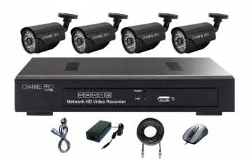 Channel Pro 4Ch NVR Kit for 3.6mm Bullet Cameras